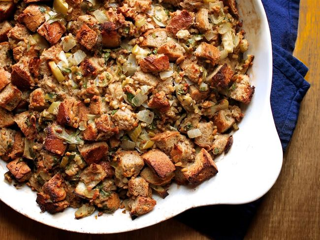 Rye black walnut stuffing