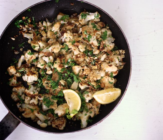 Skillet-Roasted Cauliflower with Garlic and Lemon POST