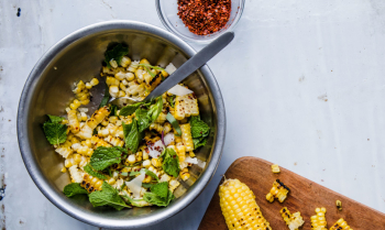 Corn-salad-with-hazelnuts-pecorino-and-mint-940x560