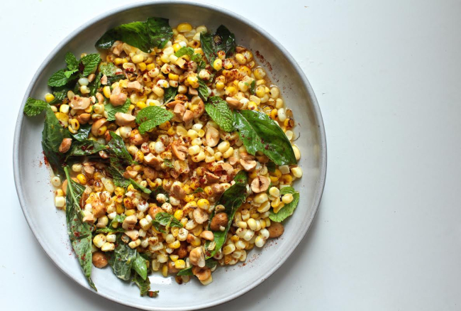 Corn salad plate