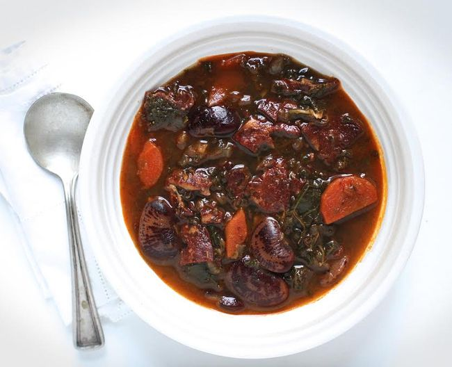 Spanish Chorizo Kale Bean Soup