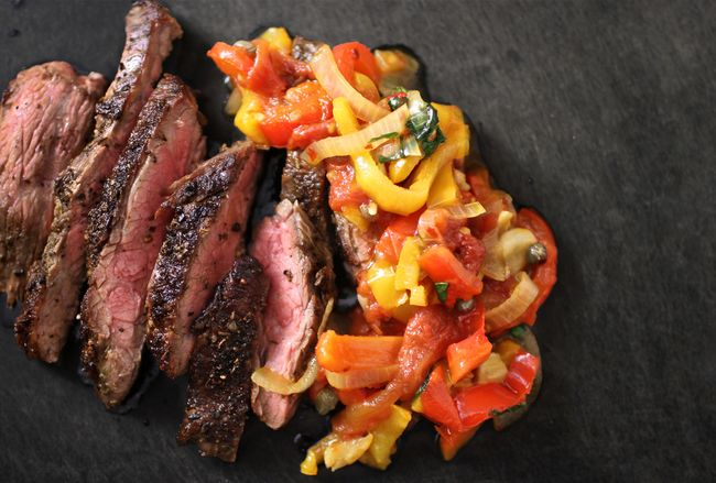 Flank Steak Peperonata POST