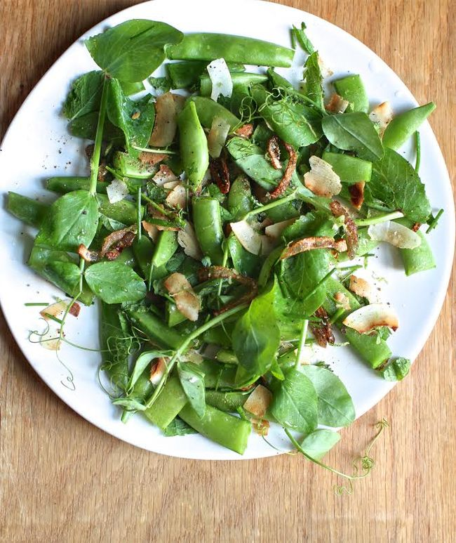 Snap Pea Salad with Coconut Gremolata