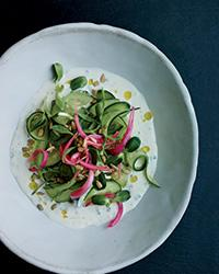 Cucumber-salad-with-buttermilk-dressing-and-pickled-onion