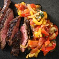 Steak peperonata
