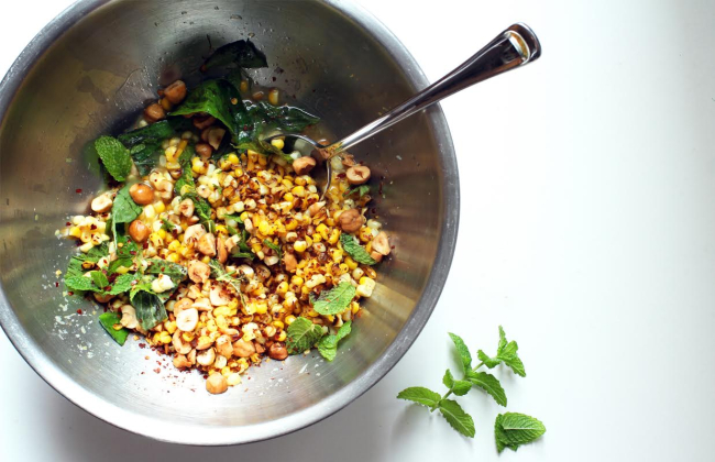 Corn salad bowl