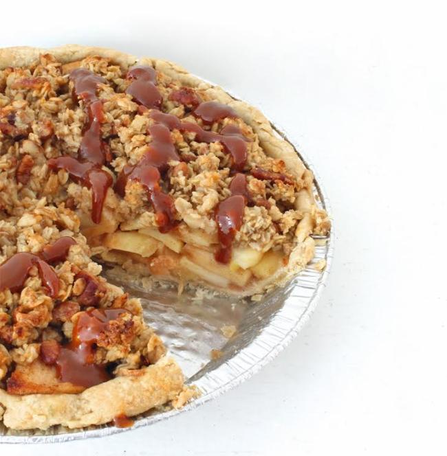 Miso Caramel Apple Pie
