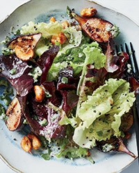Grilled fig salad with spiced cashews FW