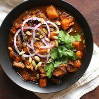 Pork squash stew chiles sq