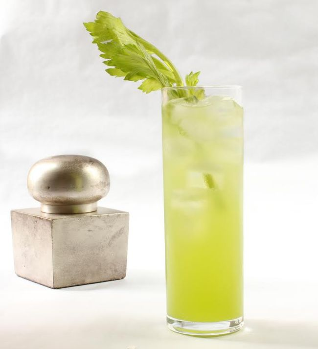 Sparkling celery gimlet