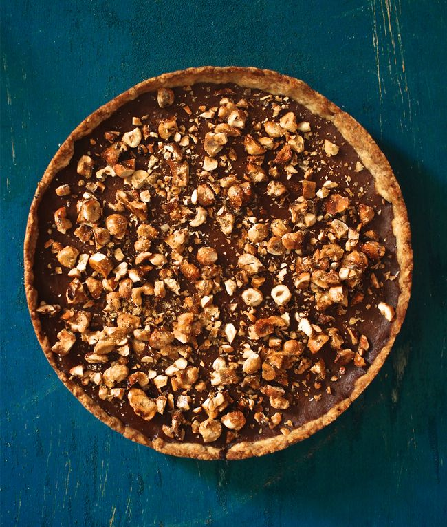 Pumpkin-Caramel Tart with Toasted Hazelnut Crust POST