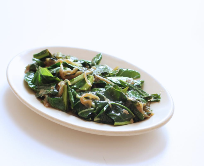 Collards with 6 hour onions