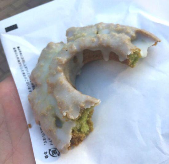 Snacks matcha donut